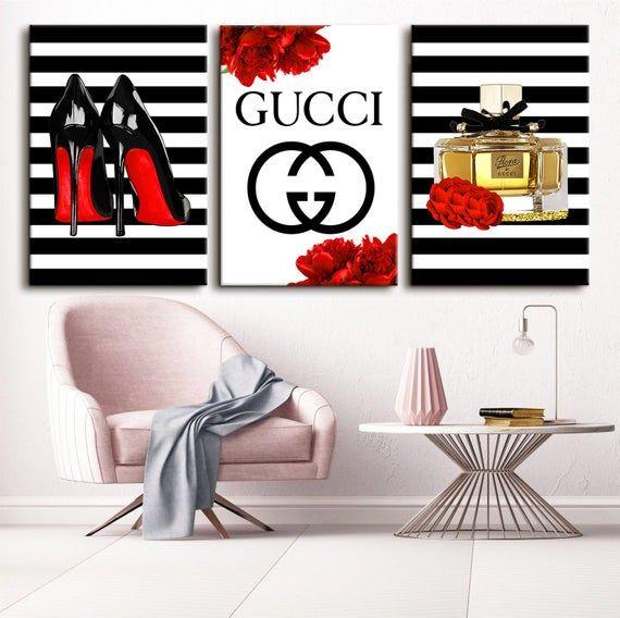 Fashion wall art Fashion art fashion gift fashion illustration African American designer fashion bedroom decor girl in red modern art