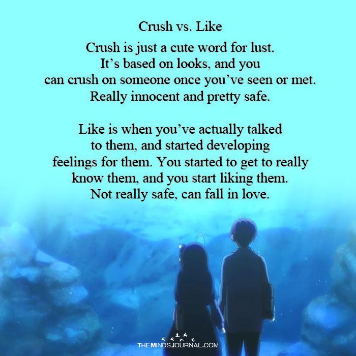 Crush Vs Like With Images Crush Quotes Love Quotes For Crush