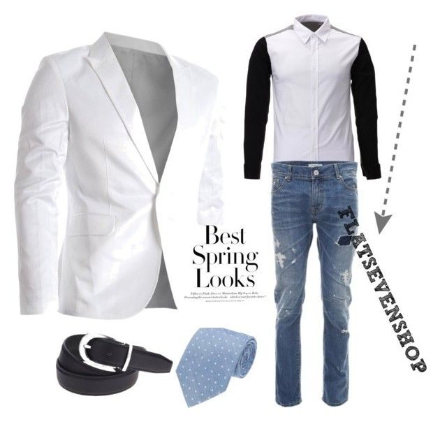 White Blazer for mens by flatseven on Polyvore featuring H&M