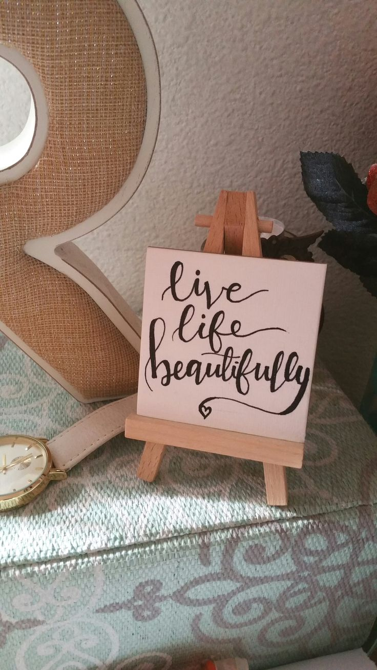 Hand Lettered Mini Canvas Quote