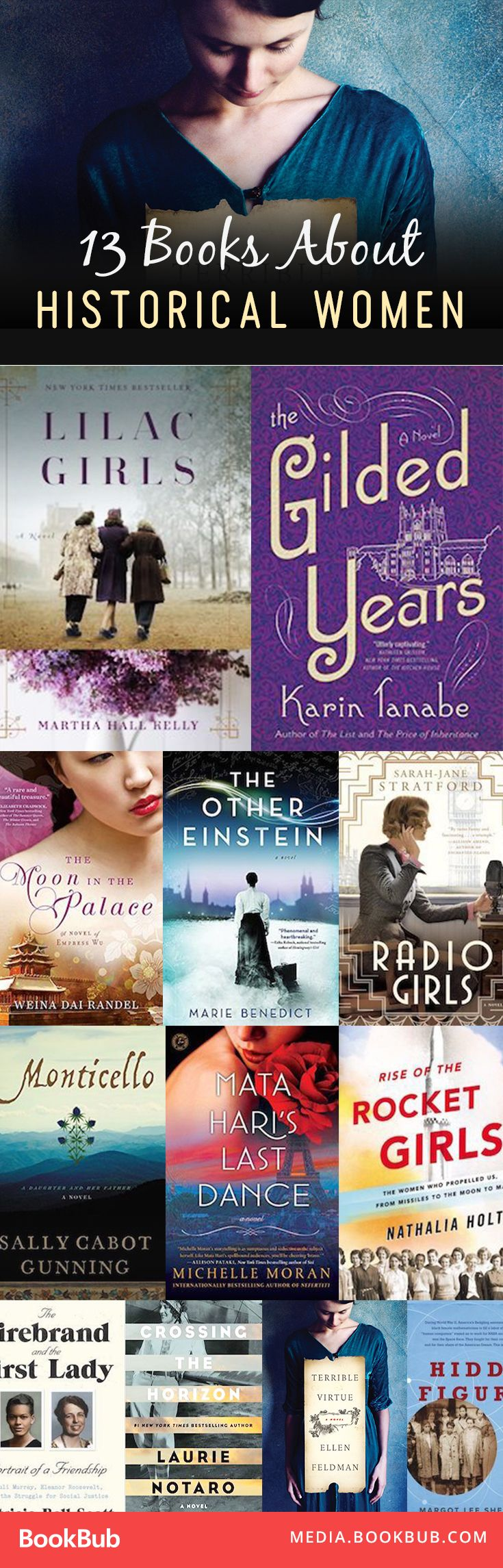 13 great book recommendations about historical women.