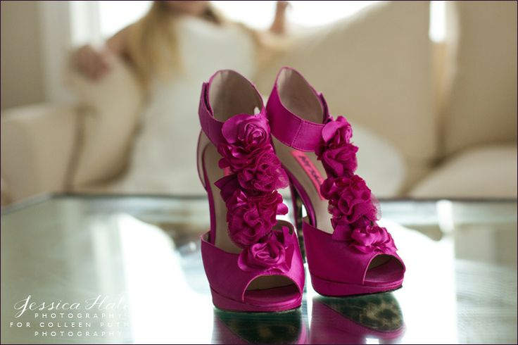 Fuschia wedding shoes - Windows on the Water