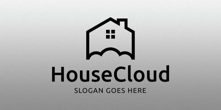 House Cloud Logo Template for Sale: 19$