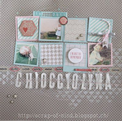 "Scrap of Mind: Pagina ""Chiocciolina"" - 1 pin al mese #6"