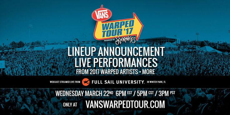 GoRockfest.Com: Vans Warped Tour 2017 Lineup & Tickets Info