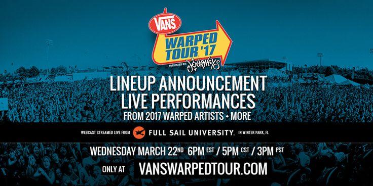 GoRockfest.Com: Vans Warped Tour 2017 Lineup & Tickets Info