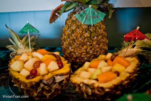 Festa lual, havaí, abacaxi, tropical