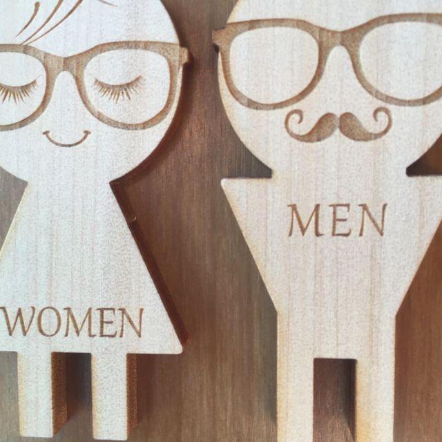 木製 ドアプレート トイレ マーク 男女セット ドアプレート 木製