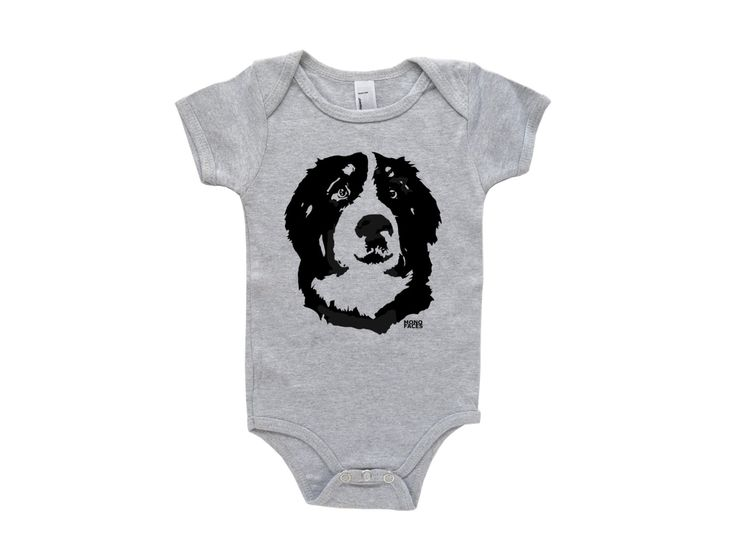 Bernese Mountain Dog Baby One Piece, My Big Brother Is Bernese, My Big Sister Is…