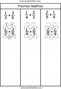 fraction addition butterfly method