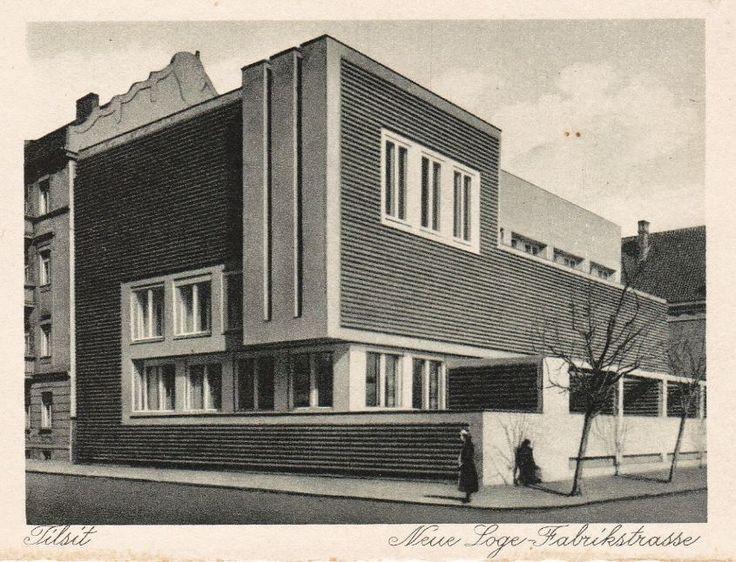Tilsit, Kaliningrad Oblast, (Königsberg) 1926 Neue Loge. Fabrikstrasse, arch. Erich Mendelsohn