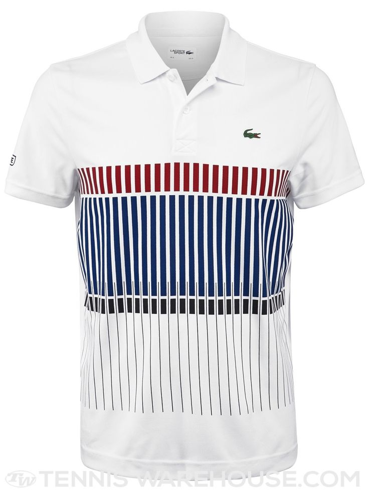 Lacoste Men's RG Striped Novak Djokovic Polo