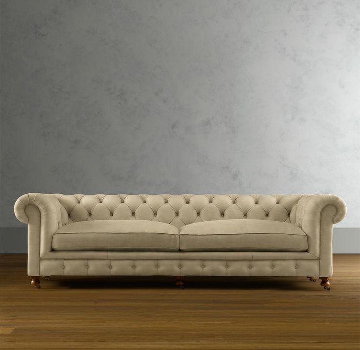 Sectional sofas restoration hardware soho tufted for Small sectional sofa restoration hardware
