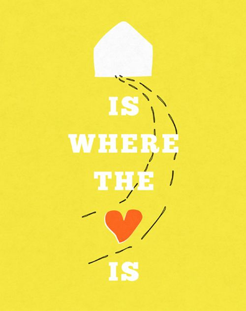 yellow home heart :)