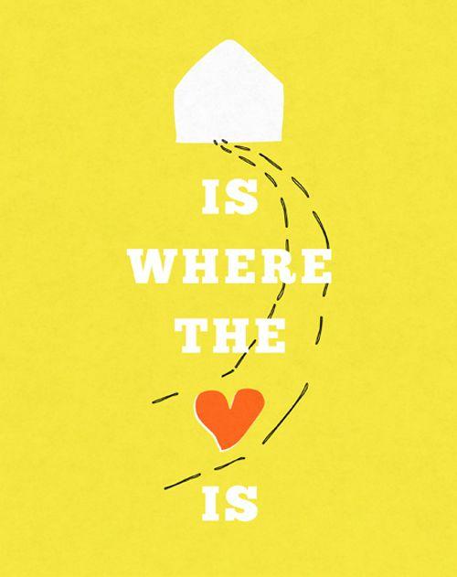 yellow home heart :)