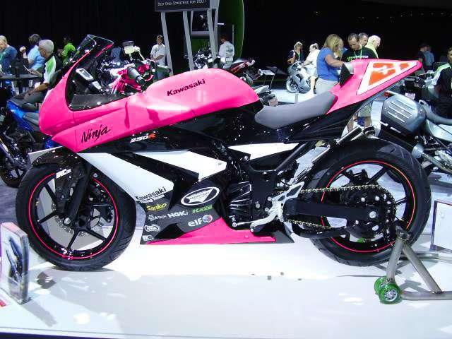 Pink Kawasaki Ninja 250r