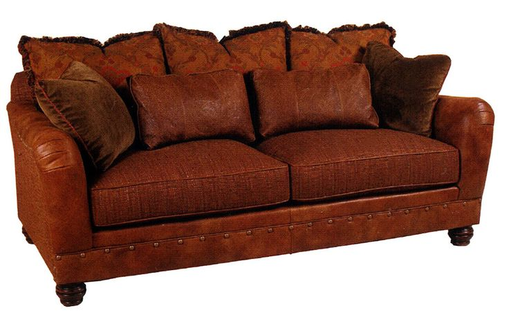 Leather Couch - Fabric Cushions. Thinking about replacing worn ...