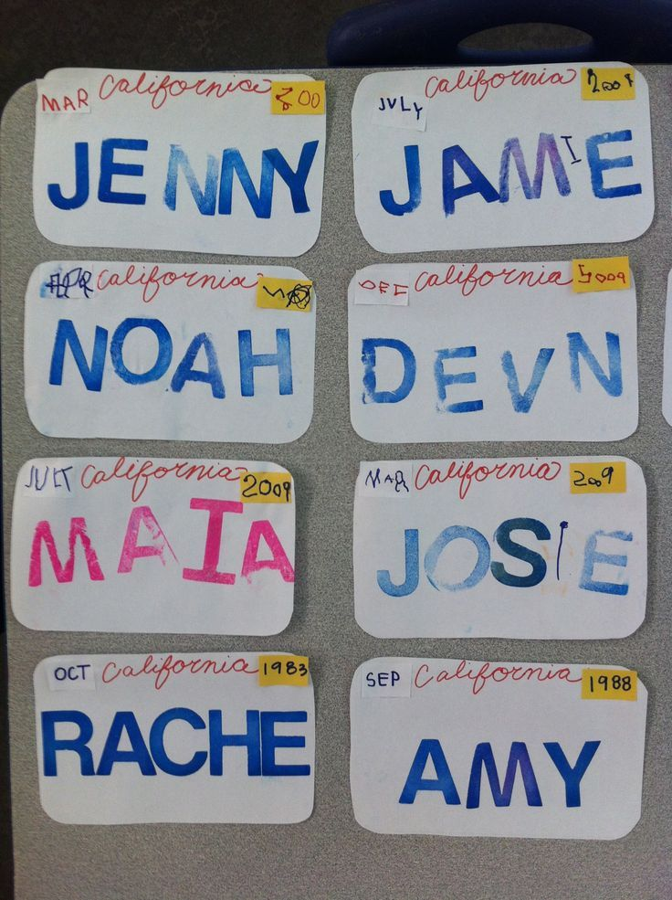 Transportation week-License plates- kids wrote the month and year they were born