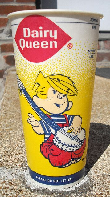 1984 Dairy Queen Wax Cup / Dennis Menace