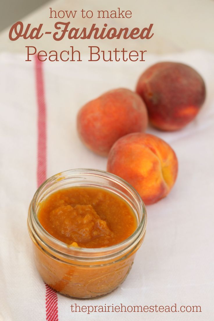 homemade peach butter recipe
