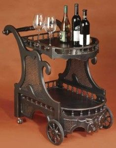 Ooh, this looks like a steampunk tea cart. LOVE.