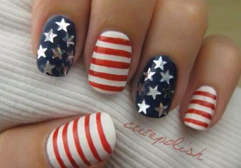 amerikaanse vlag nagellak
