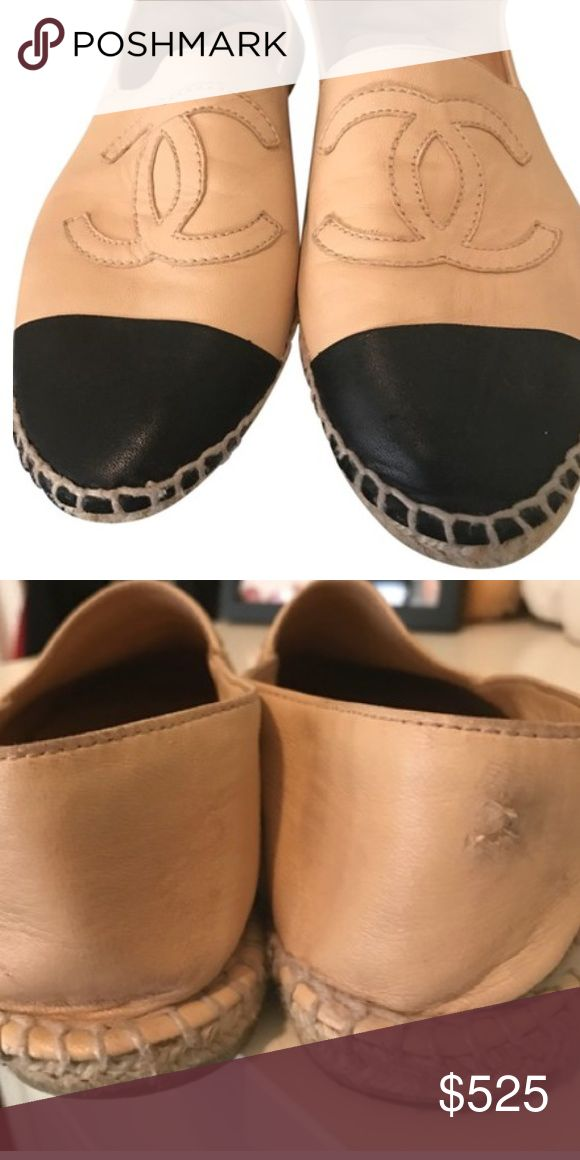 Chanel espadrilles great price! Worn condition but still look great. CHANEL Shoes Espadrilles