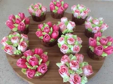 DIY Russian piping tips. Cupcake decoration - YouTube