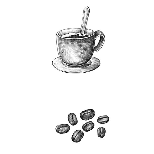 Hand Drawm Coffee And Coffee Bean Isolated On Background Free Image By Rawpixel Com Vintage Drawing How To Draw Hands Coffee Beans