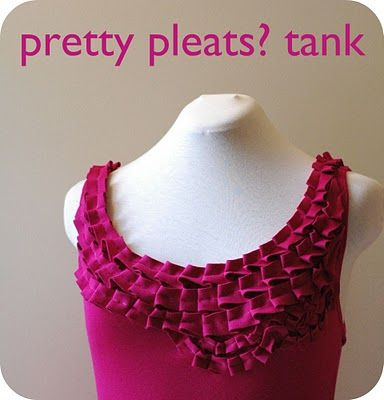 crafterhours: Pretty Pleats? Tank: A Tutorial
