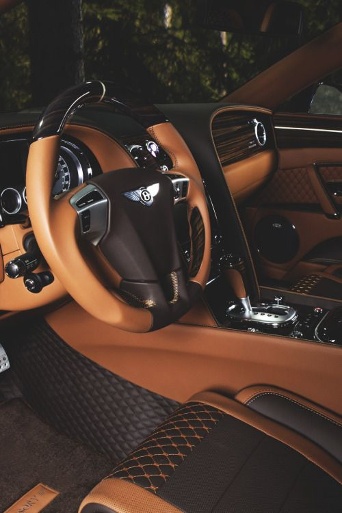Black Bentley Interior With Brown Finishes