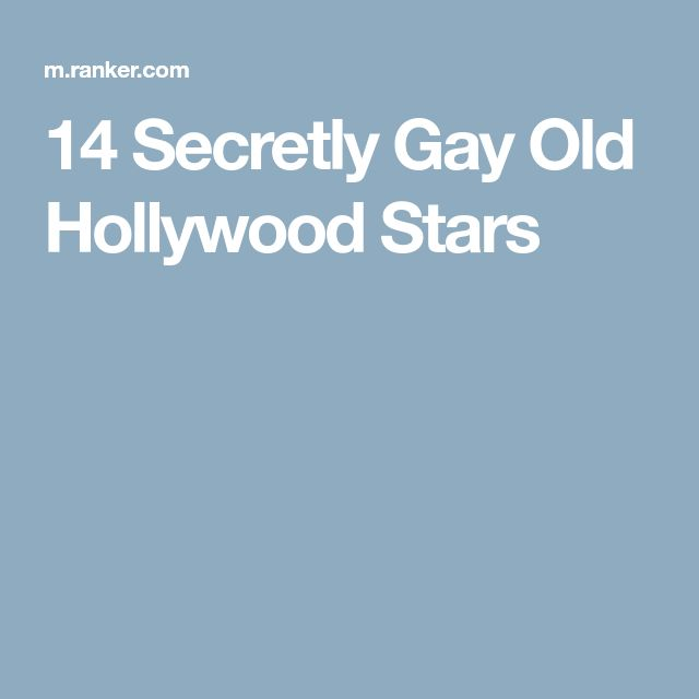from Jacoby who is secretly gay in hollywood