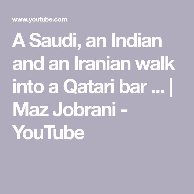A Saudi, an Indian and an Iranian walk into a Qatari bar ... | Maz Jobrani - YouTube