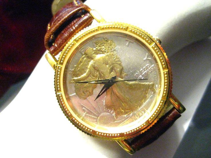 17 best ideas about vintage mens watches men s details about vintage mens watch 1941 real walking liberty half dollar coin 90% silver