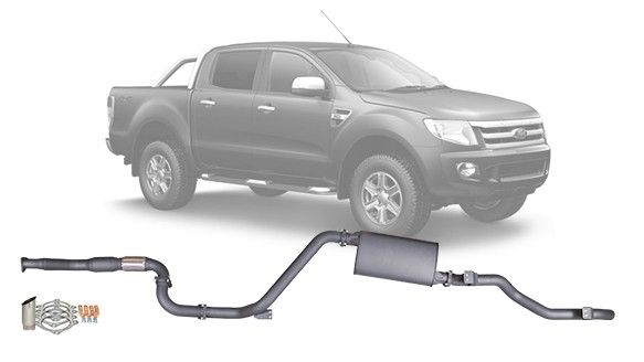 """Ford Ranger PX - 3"""" Redback Extreme Duty Exhaust System"""
