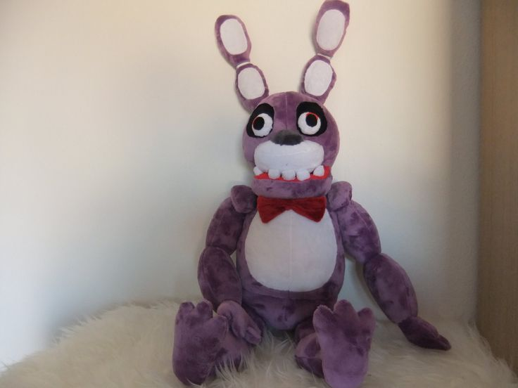 Bonnie plush FNAF WORLD Adventure by MLPplushartwork on Etsy