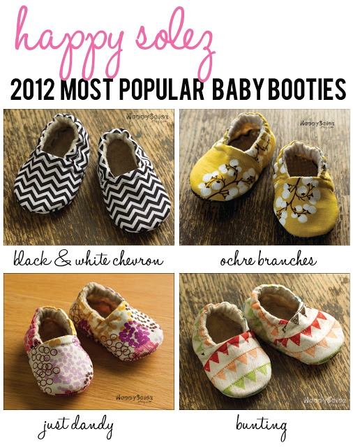 Most popular baby booties of 2012: Happy Solez