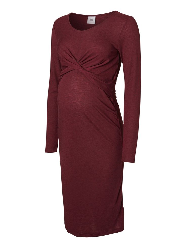 Look sexy in a dark red maternity dress from Mamalicious.com