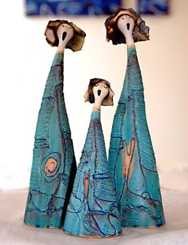 by Mekko  figuras de cerámica cantoras