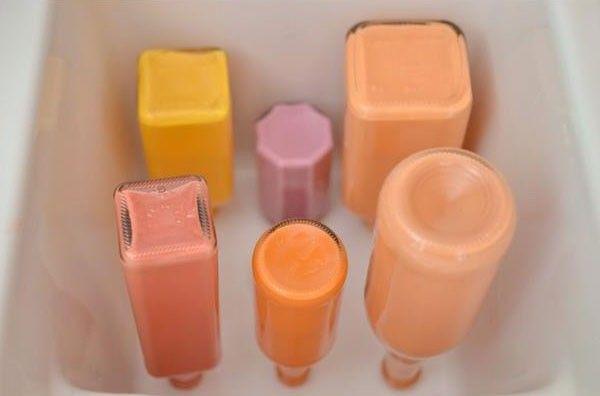 Покраска бутылок