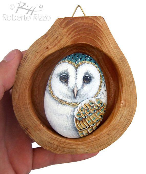 Barn Owl Nest  Unique 3-D Art by Roberto Rizzo by RobertoRizzoArt