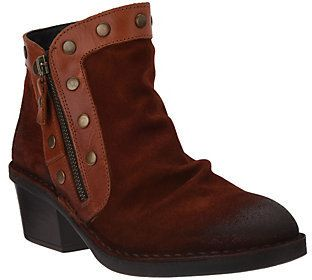 Fly London As Is Suede Ankle Boots w/Stud Details - Duke