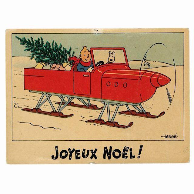 Felicitación de Navidad de Tintin - Hidrodeslizador