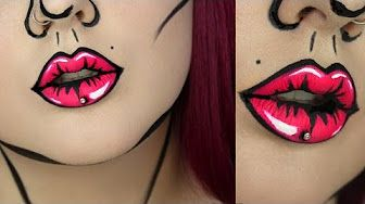 Comic Book/ Pop Art Halloween Tutorial | BeautywithTashy - YouTube