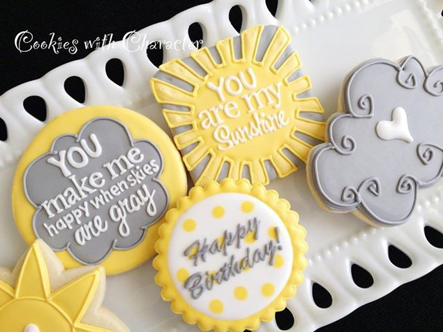 You Are My Sunshine Sugar Cookies with Character