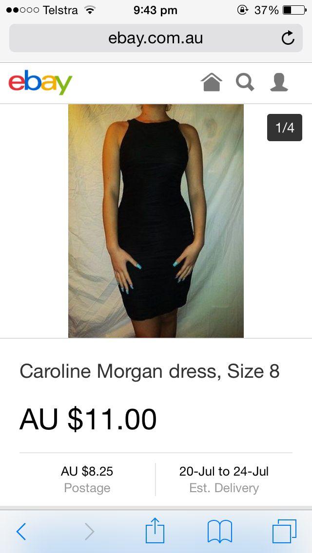 Caroline Morgan dress, black, size 8. Available on eBay.