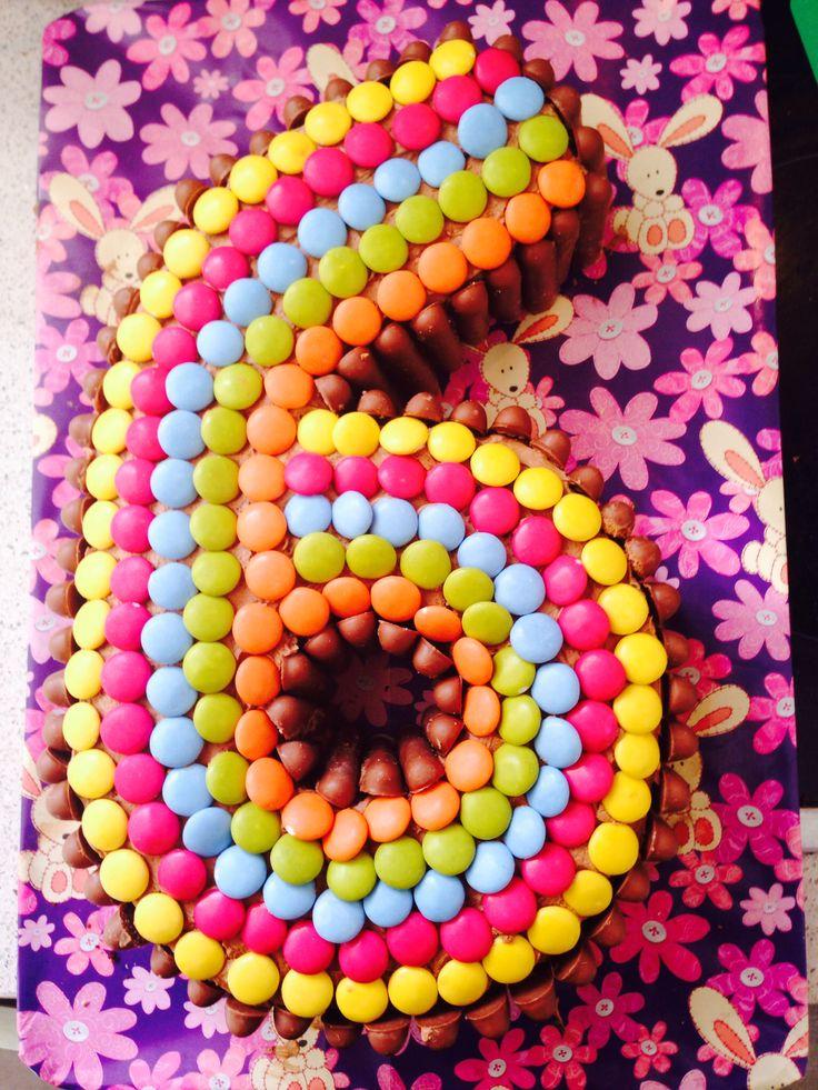 Number 6 birthday cake