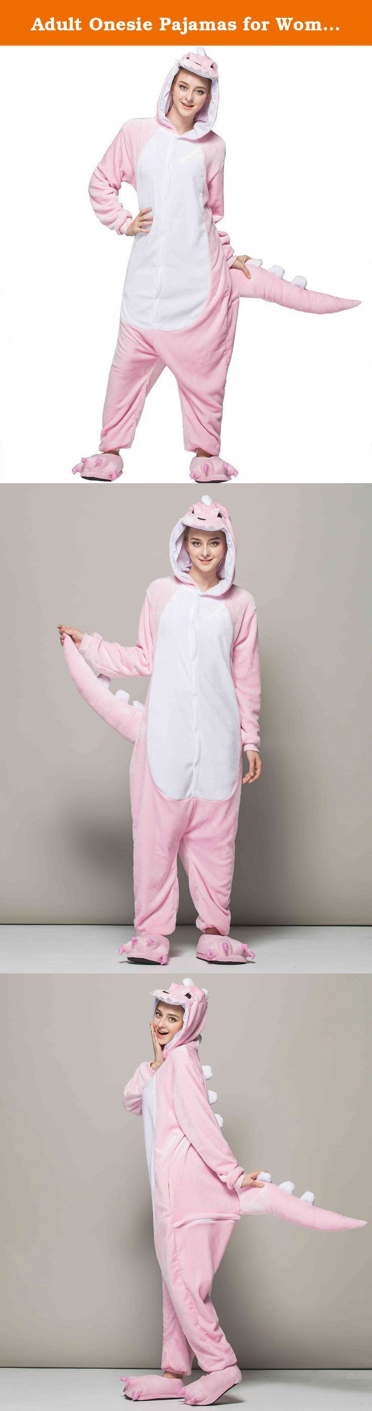 "Adult Onesie Pajamas for Women or Men Christmas with Plus Size (L Fit Height 66""-70"" (168CM-177CM), Pink Dinosaur). iSZEYU Unisex Adult Onesie Pajamas for Women / Mens Pjs for Xmas / Halloween Size Chart: S Fit Height 150CM-160CM (59""-63"") M Fit Height 160CM-168CM (63""-66"") L Fit Height 168CM-177CM (66""-70"") XL Fit Height 177CM-185CM (70""-73"") So measure your height now (Pls choose a bigger size if you are a plus size people) Q: Why our onesies are packed in a vacuum pack bag? A: Dear. As..."