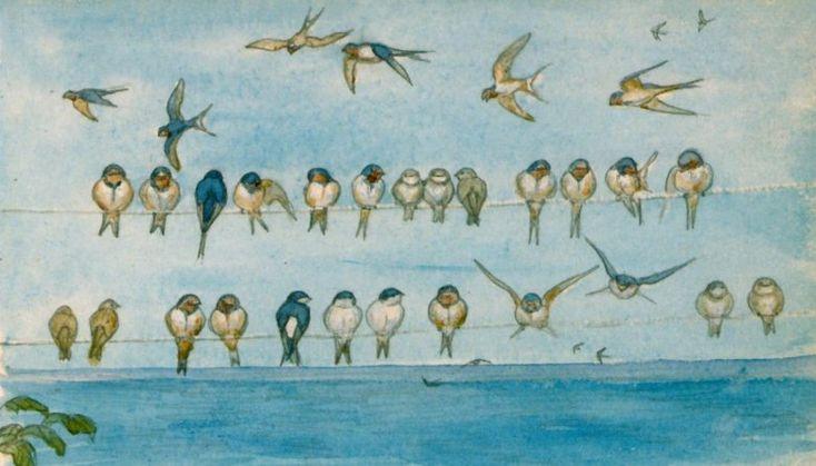 Johannes Larsen - watercolor