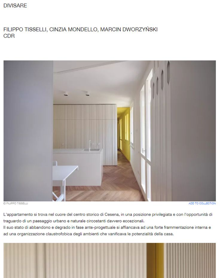 #tissellistudio single family penthouse in Cesena, published by DIVISARE